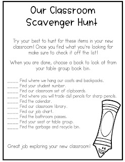 scavenger hunt checklist freebie