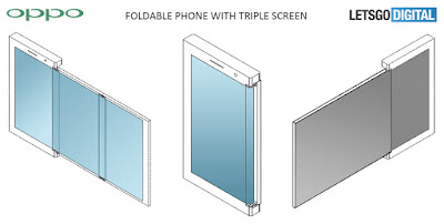 Oppo folddable phone with triple screen