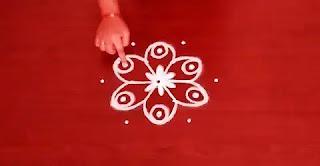 easy and small dot rangoli design