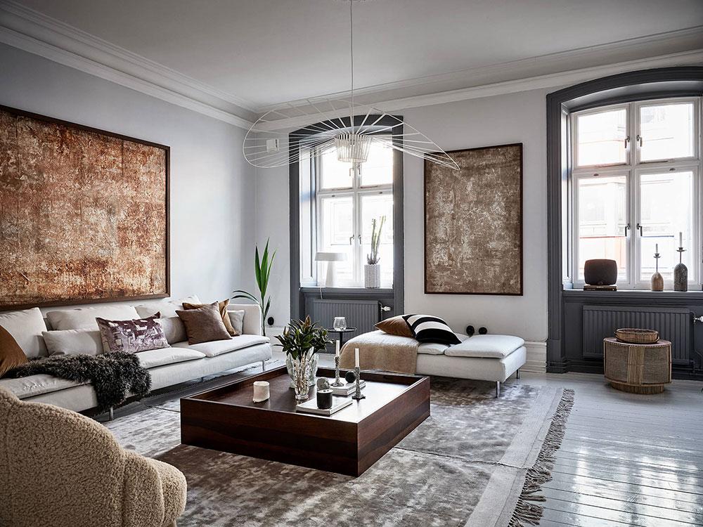 Sophisticated Scandinavian apartment