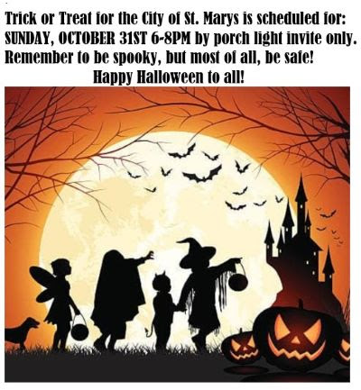 10-31 Trick or Treat, City of St. Marys