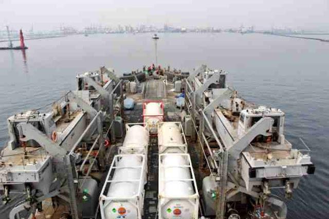 Bawa Bantuan Oksigen, LST India INS Airavat Tiba di Jakarta