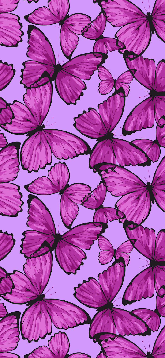 aesthetic background wallpaper hd butterfly for mobile and iphone