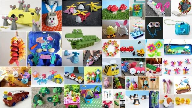 Κατασκευές για Παιδιά από Χάρτινες Αυγοθήκες