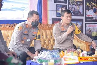 Kapolda Jateng Tinjau Pos Pelayanan Ops Lilin Candi 2020 diperbatasan Jateng-Jatim
