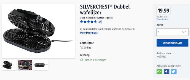 Silvercrest® wafelijzer