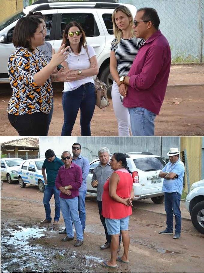 Prefeito Daniel Enfermeiro e técnicos visitam terreno onde será construida Unidade Regional da EMATER