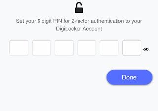 Set Digilocker Pin