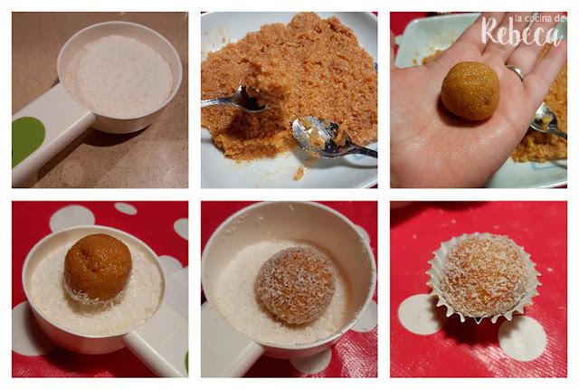 Receta de bolitas de coco: formado