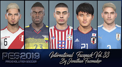 Facepack International by Jonathan Facemaker Update, PES 2019 Facepack International Vol 33 by Jonathan Facemaker