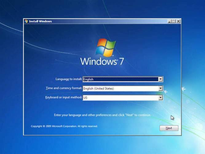 langkah 7: cara instal windows 7, setelan bahasa