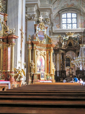Inside St. Anne's Church in Warsaw, Poland