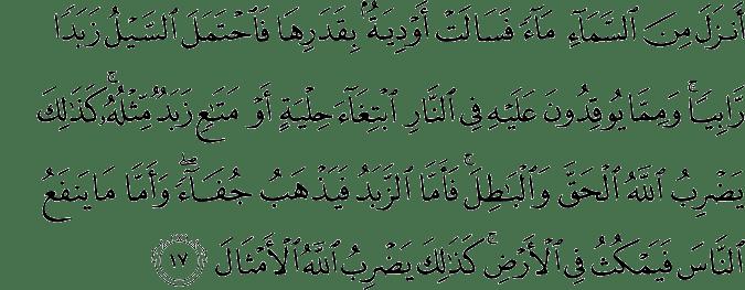 Surat Ar Ra'd Ayat 17