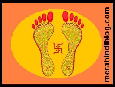नवरात्रि में पूजन के समय क्यों बनाते है हल्दी-कुमकुम के पैर? Navratri ki puja me haldi aur kumkum se pairon ke nishan kyo banaate hai?