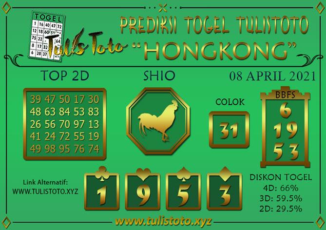 Prediksi Togel HONGKONG TULISTOTO 08 APRIL 2021