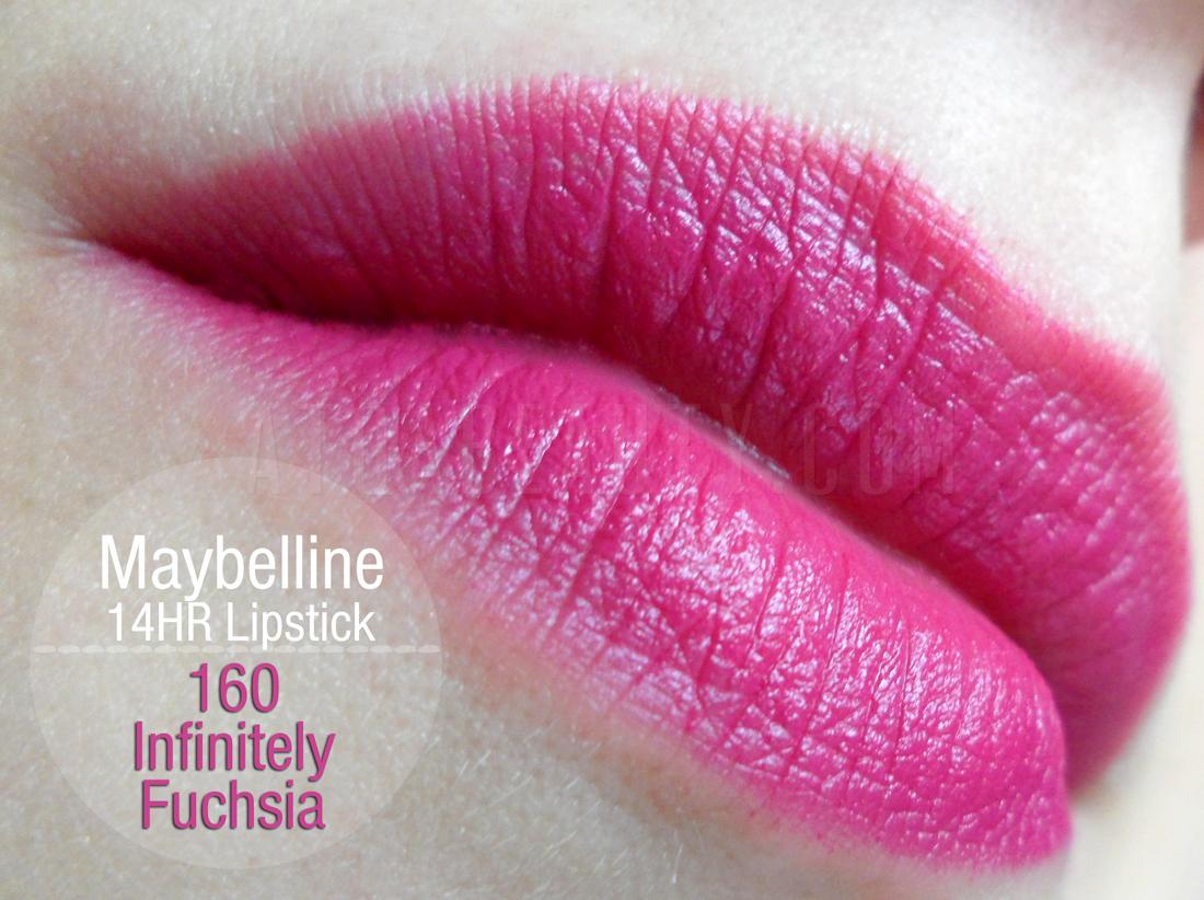 Maybelline, SuperStay, 14HR Lipstick, 160 Infinitely Fuchsia