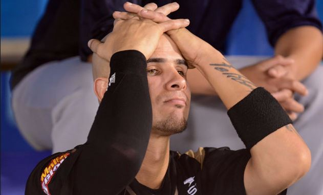 Los números que tiene ahora el cubano contrastan enormemente con los del año anterior, cuando terminó segundo en la votación al MVP y ligó para .322, con siete jonrones y 34 empujadas