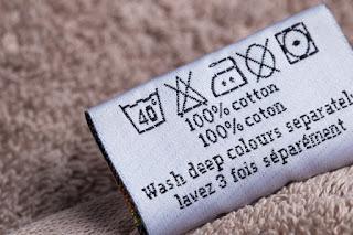 label cara cuci pakaian
