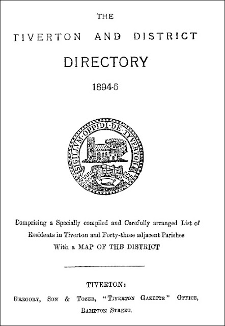 Tiverton and District Directory (Gregory, Son & Tozer, 1895)