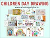 {New} Children's Day Drawing (Drawing on Children's Day) | Pandit Jawaharlal Nehru Pencil Sketch