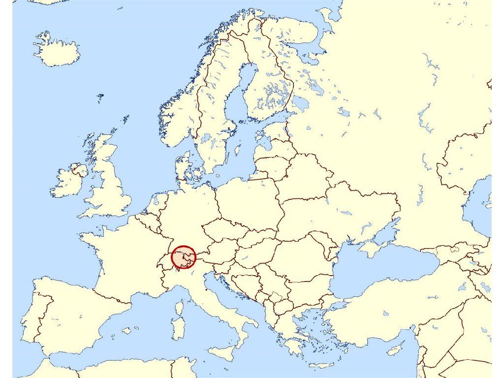 liechtenstein map of europe