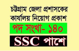 জেলা প্রশাসক কার্যালয়ে নিয়োগ বিজ্ঞপ্তি ২০২১ (SSC পাশে) ।Chittagong dc office job circular 2021।dcctg teletalk com bd