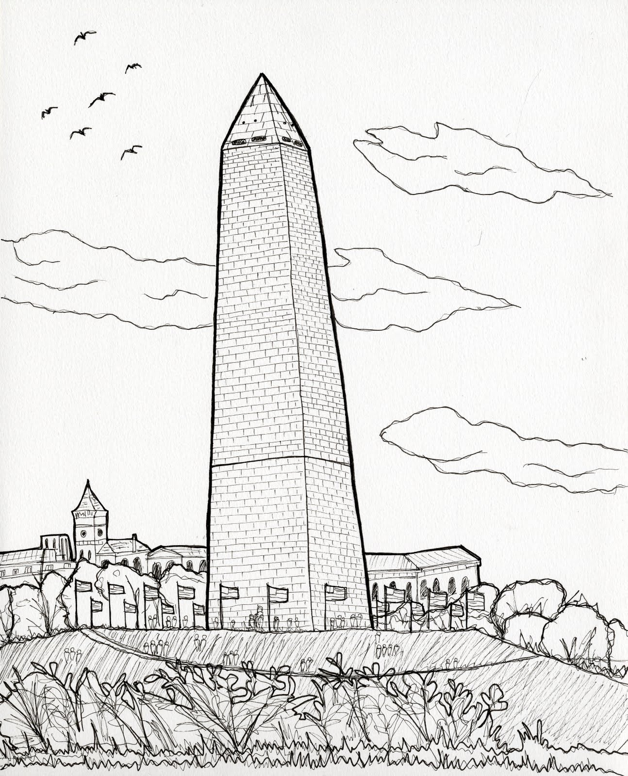 Urban Sketchers Washington DC: Washington Monument