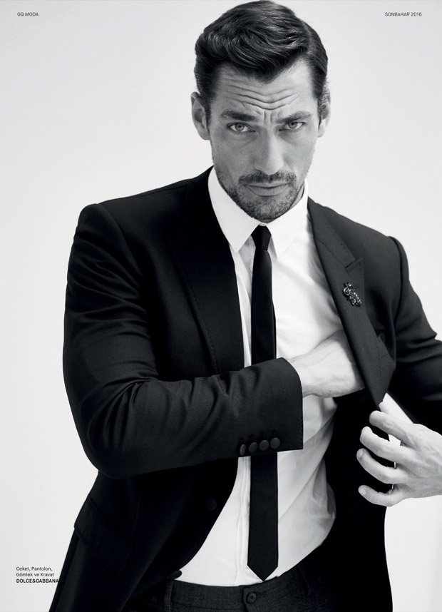 David Gandy, model, Fall 2016, supermodel, menswear, moda hombre, Suits and Shirts, GQ, GQ Turkey, Magazine, cover,