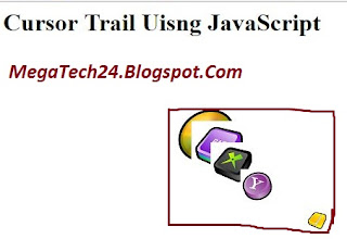 javascript cursor trail effect
