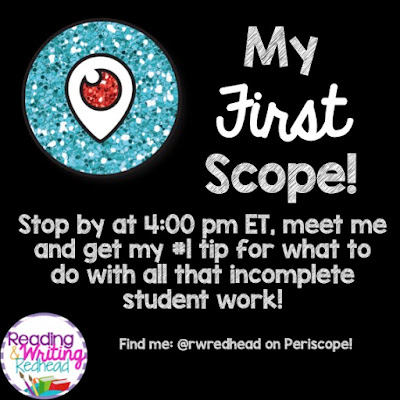 My First Scope - My #1 Tip for Organizing all that Incomplete Student Work!