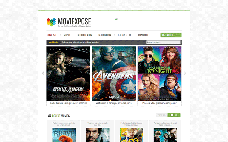 Moviexpose Free Blogger Template