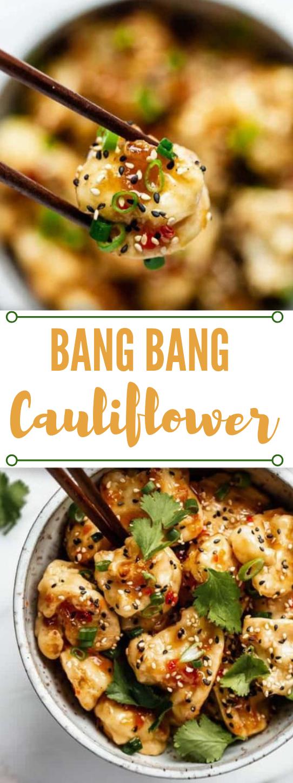 BANG BANG CAULIFLOWER #vegan #vegetarian #cauliflower #mushroom #food