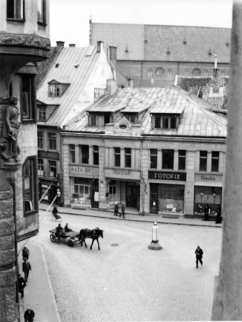 1920-е годы. Вид на Домскую площадь со стороны Яковлевской улицы (Jēkaba iela)