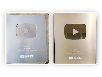 Ghép ảnh tên của bạn vào nút bạc và nút vàng youtube