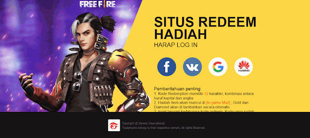 Kode Redeem FF 17 September 2020