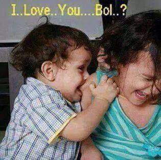 funny baby i love you images