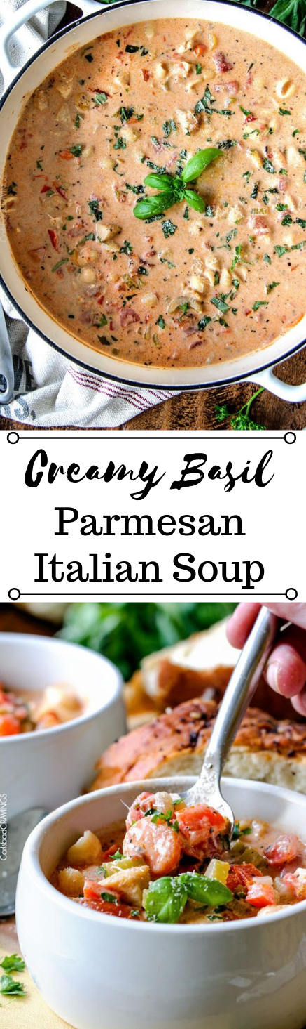 CREAMY ITALIAN SOUP #soup #vegetarian #delicious #paleo #lowcarb