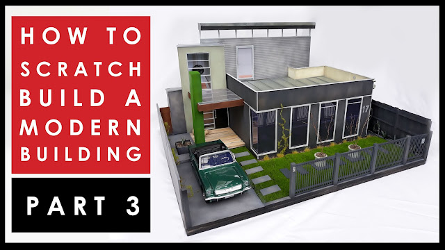 How to scratch build a scale model house - Part 3