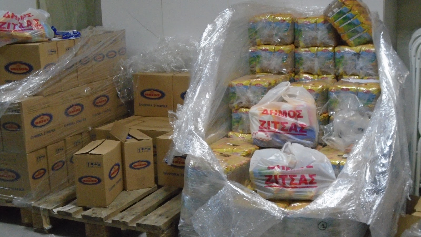 Διανομή τροφίμων στο Δήμο Ζίτσας, σε δικαιούχους του Τ.Ε.Β.Α.