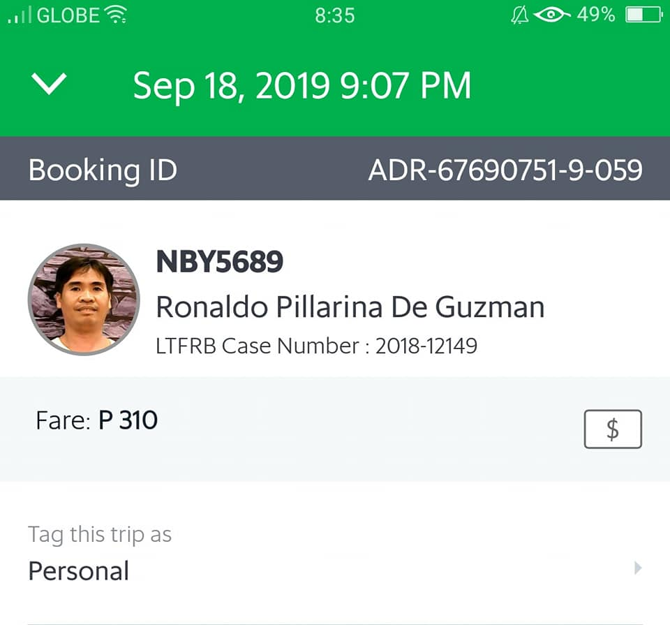 Grab driver brings dengue patient to hospital for free, gives family extra Php1k