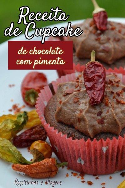 Receita de cupcake de chocolate com pimenta