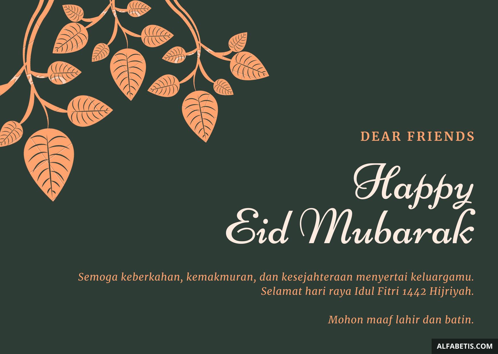 Ucapan Eid Mubarak Bahasa Indonesia