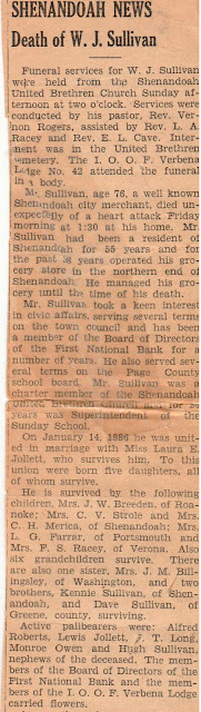 Obituary of William J. Sullivan  https://jollettetc.blogspot.com