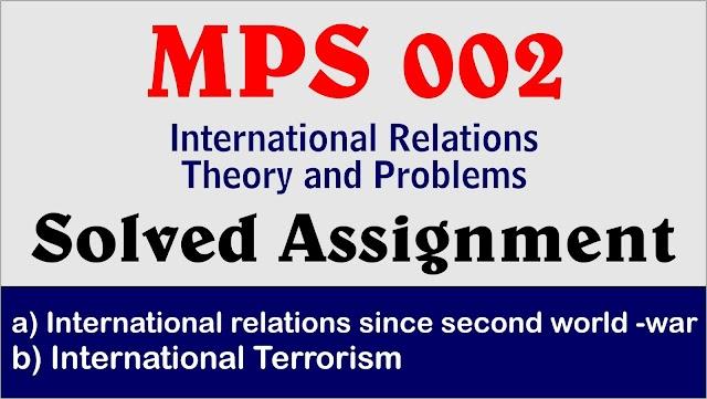 International relations since second world -war