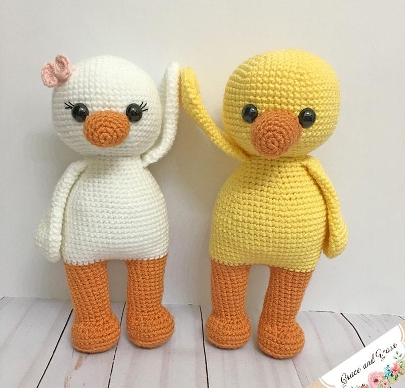Cute Duck Amigurumi Pattern Schattige Eendjes Haakpatroon Bees