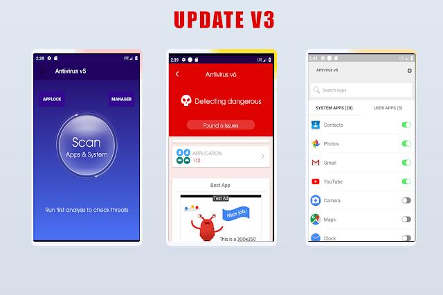 Antivirus v5 + Applock + Booster + Cleaner + AppManager ---update v3--- - 2
