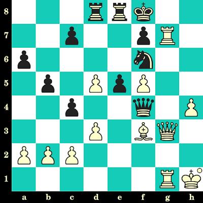 Les Blancs jouent et matent en 2 coups - Alexey Kuzmin vs Evgeny Vladimirov, Tashkent, 1987