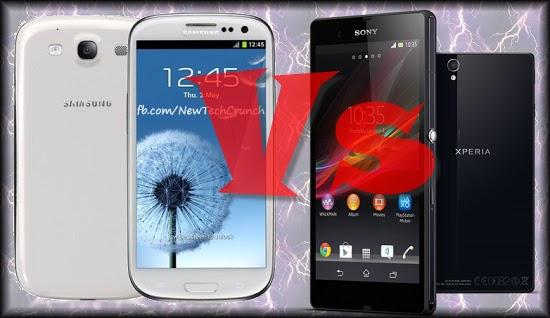 Sony Xperia Z Vs Samsung Galaxy S3