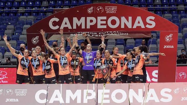 FÚTBOL SALA - Liga Femenina 2019/2020: El Pescados Rubén Burela vuelve a lo alto con su tercer título liguero
