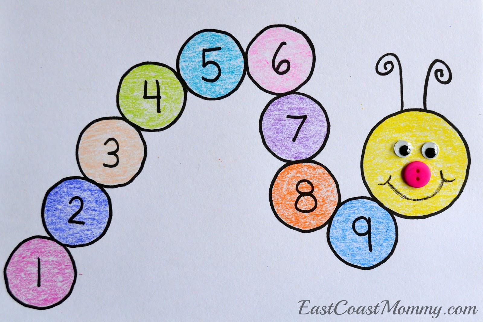 East Coast Mommy: Number Crafts {Number NINE}... Monster